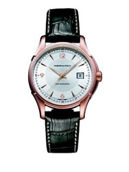 Hamilton Jazzmaster Viewmatic Auto Rose Goldtone Stainless Steel And Embossed Leather Strap Watch Brown Gold