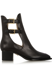 Maiyet Cutout Buckled Leather Ankle Boots