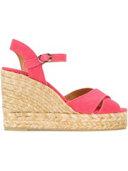 Castaner Castaner 'Blaudell' Espadrille Wedge Sandals Pink And Purple