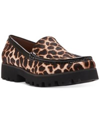 Donald J Pliner Rio Loafer Flats Women's Shoes Natural Leopard