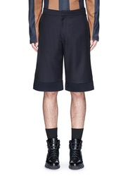 Acne Studios 'Roy' Ribbed Cuff Wool Mohair Shorts Blue