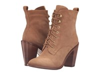 Bcbgeneration Bennie Sandelwood Oil Calf Suede Women's Lace Up Boots Brown