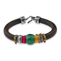 Platadepalo Classic Jade Silk And Zircon Bracelet Green