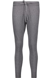 Chinti And Parker Merino Wool Cashmere Blend Tapered Pants Anthracite