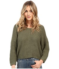 Billabong Way Back When Sweater Moss Women's Sweater Green