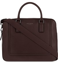 Ted Baker Ragna Leather Briefcase Chocolate