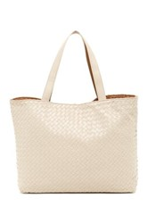 Urban Expressions Woven Reversible Tote Beige