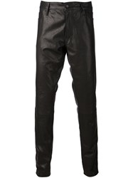 Ann Demeulemeester Leather Trousers Black