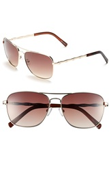 Lilly Pulitzer 'Cambridge' 59Mm Aviator Sunglasses Gold Tortoise Brown Pearl