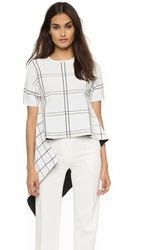 Derek Lam Short Sleeve Asymmetrical Top