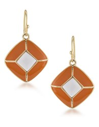 1St And Gorgeous Pyramid Drop Earrings Gold