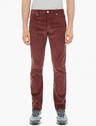 Editions Mr Maroon Relaxed Corduroy Trousers