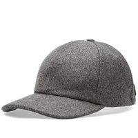 Ami Alexandre Mattiussi Wool 6 Panel Cap Grey