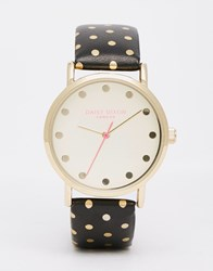Daisy Dixon Polka Dot Leather Watch Black