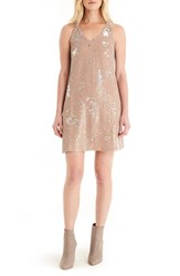 Michael Stars Women's Sequin Mini Dress Chai Silver
