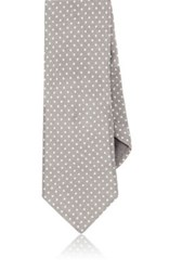 Todd Snyder Men's Dot Print Linen Necktie Tan