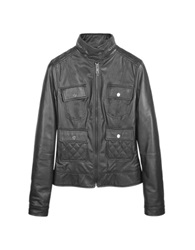 Forzieri Black Motorcycle Leather Jacket