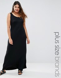 Pink Clove Jersey Maxi Dress Black