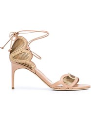 Brian Atwood 'Gabriela' Sandals Nude And Neutrals