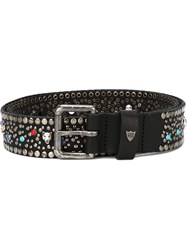 Htc Hollywood Trading Company Studded Buckle Belt Black