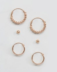 Kingsley Ryan Rose Gold Plated Ear Party Pack Rose Gold