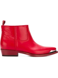 Philippe Model 'Arizona' Ankle Boots Red