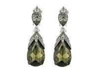 Oscar De La Renta Bold Teardrop C Earrings Black Diamond