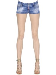 Dsquared California Washed Stretch Denim Shorts