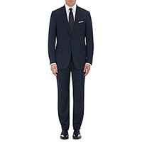 Ermenegildo Zegna Men's Milano Micro Checked Wool Two Button Suit Blue