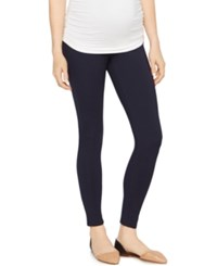 A Pea In The Pod Skinny Ponte Maternity Pants Navy