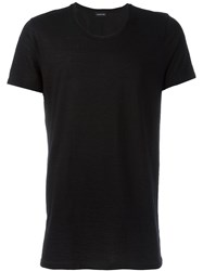 Exemplaire Fitted Classic T Shirt Black
