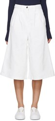 Edit White Denim Culottes