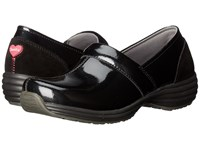 Sanita O2 Ease Life Black Patent Women's Clog Shoes