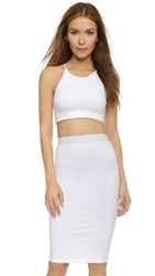 David Lerner Abbie Bralette Crop Top Soft White