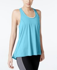 Ideology Mesh Racerback Swing Tank Top Only At Macy's Crystal Mint
