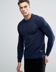Threadbare Chunky Cable Knit Jumper Navy