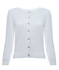 Nougat London Balham Cropped Cardigan White