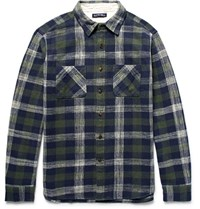 Alex Mill Checked Cotton Flannel Shirt Dark Green