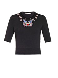 Mary Katrantzou Deer Embellished Knit Top