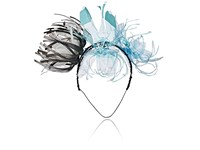 Albertus Swanepoel Women's 10Th Anniversary Recyled Flower Magpie Headband Black White Blue Black White Blue