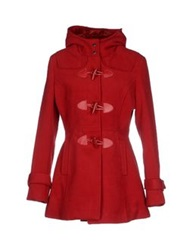Yes Zee By Essenza Coats Brick Red