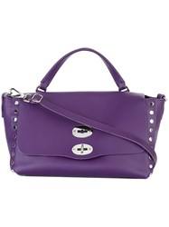 Zanellato Classic Tote Pink And Purple