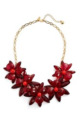 Kate Spade Women's New York 'Blooming Brilliant' Statement Necklace Pink Multi