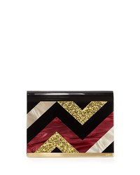 Rafe Lisa Medium Flap Crossbody Bag Merlot Multi