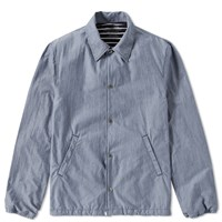Save Khaki Chambray Warm Up Jacket Blue