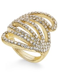 Inc International Concepts Gold Tone Crystal Wave Dome Ring Only At Macy's