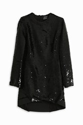 Anthony Vaccarello Sequins Dress Black