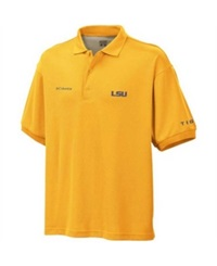 Columbia Men's Lsu Tigers Omni Dry Polo Shirt Gold