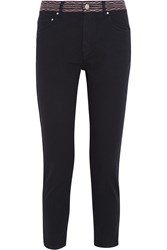 Etoile Isabel Marant Andreas Cropped Mid Rise Slim Jeans Black