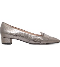 Kurt Geiger Dara Leather Loafers Pewter